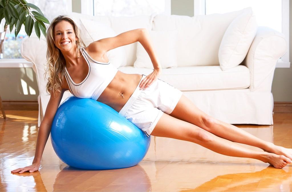 Cvičení s míčem pro zpevnění těla